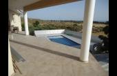 Top veranda overlooking pool
